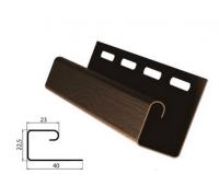 J-профиль (J-trim) коричневый для винилового сайдинга