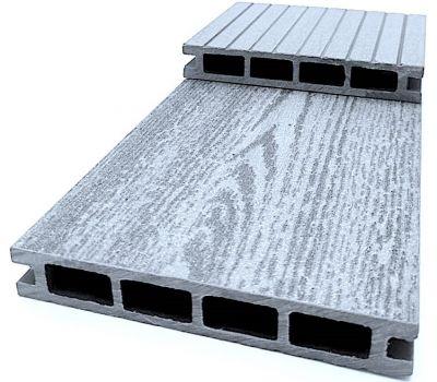 Террасная доска ДПК «Эко Классик» Серый от производителя Decking-DPK (Декинг-ДПК) по цене 295.00 р