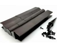 Угол поворотный от 60°  до 180°  пластик для доски 225х25-30 из ДПК Коричневый