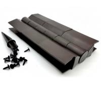 Угол поворотный от 60°  до 180°  пластик для доски 225х25-30 из ДПК