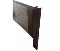 Уголок металлический 90°, для доски 150х25 из ДПК Коричневый
