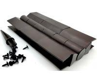 Угол поворотный от 60° до 300° пластик для доски 225х30 из ДПК Чёрный