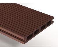 Террасная доска ДПК Select 146х22 мм Темно-коричневый
