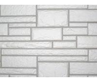Цокольный сайдинг Hand-Cut Stone (Дворцовый Камень) GLACIER WHITE (Белый камень)