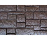Фасадные панели Дворцовый камень Коричневый