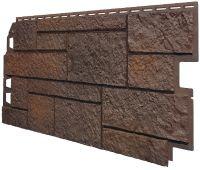 Фасадные панели (Цокольный Сайдинг) VOX Sandstone Темно-коричневый
