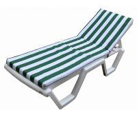 Матрас для шезлонга Зеленые/белые полоски M4VWG
