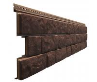 Фасадные панели - серия LUX BERGART под камень Кедровый орех